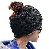 HugeStore Damen Winter Crochet Strick Stirnbänder Kopfband Haarband Turban Ear wärmer Schwarz