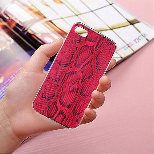 finoo | iPhone 8 Plus Handy-Tasche Schutzhülle | ultra leichte transparente Handyhülle in harter Ausführung | kratzfeste stylische Hard Schale mit Motiv Cover Case | Elefanten Marsch Rote Schlange