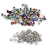 100 set di 4 millimetri foro del diametro interno occhielli e rondelle per Scrapbooking, in pelle, cinture, borse, mestieri di DIY, Auto Backup ( Colore : Mixed Color )