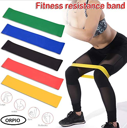 ORPIO (LABEL) Heavy Duty Pilates/Yoga Fitness Resistance Loop Exercise Bands for Body Stretching, Legs and Butt, Set of 3 for Men and Women