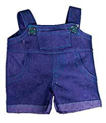 Idea Regalo - Denim Salopette da lavoro con Teal Blu cuciture ORSETTO COMPLETO Abbigliamento per 38,1 -40, 6 cm (40cm) Teddy struttura a Bear