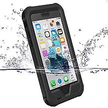 Cover impermeabile iPhone 7, ZVE® custodia iPhone 7, impermeabilità antiurto antipolvere anti neve anti urti heavy duty copertura di subacqueo caso protettivo guscio per Apple iPhone 7 (4,7 inch) nero
