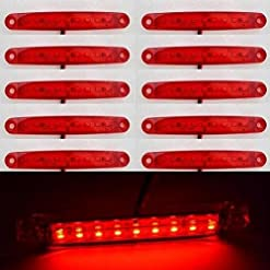 10x 24V 9LED posteriore marcatore rosso luci laterali per camion caravan Chassis ribaltabile Bus Bus camper