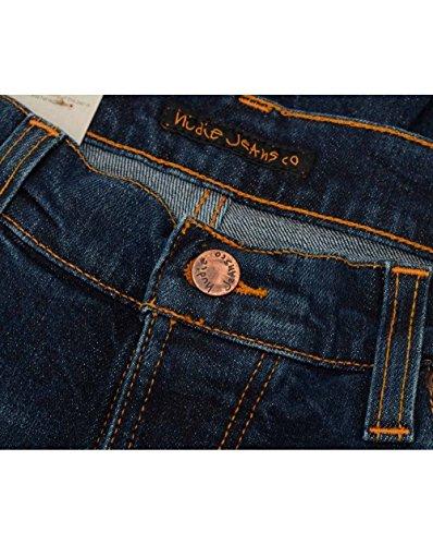 Nudie Jeans Herren Jeans Loose Fit Dude Dan Dark Fuzz