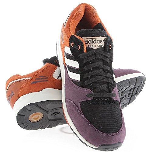 adidas Tech Super (schwarz / rot) Violet/ orange