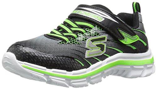 Skechers (SKEES) Nitrate- Pulsar, baskets sportives garçon Noir (Bklm)