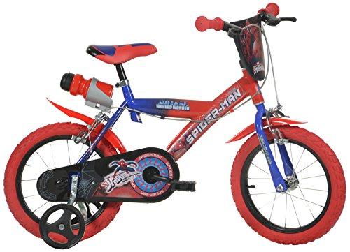 Dino Bikes Spiderman Jungenfahrrad Rot - 16 Zoll