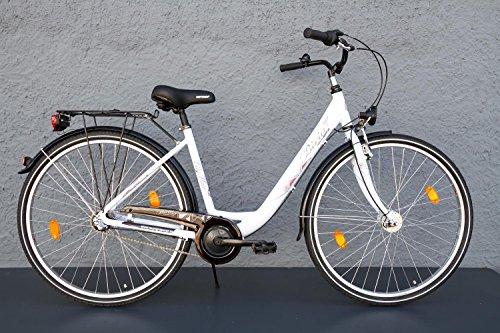 """28"""" Zoll Alu Damen Fahrrad BIRIA MIFA City Bike Shimano 3 Gang weiss"""