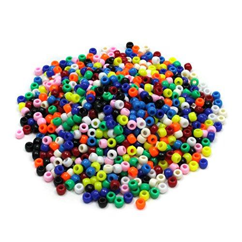 Chenille Kraft 3552 Pony Beads Verschiedene helle Farben 1 000 Perlen pro Packung