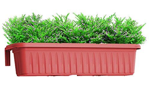 Bama 30225 fioriera rondine di 80 cm, terracotta