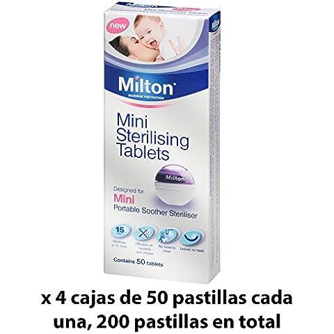 Pastillas Esterilizadoras Mini Milton, 200 unidades - Pastillas para esterilizar y desinfectar la Copa Menstrual Sileu - Ideales para usar con el Esterilizador Plegable