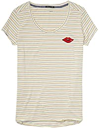 Maison Scotch Damen T-Shirt Tee in Various Stripes 134873 Combo D XS