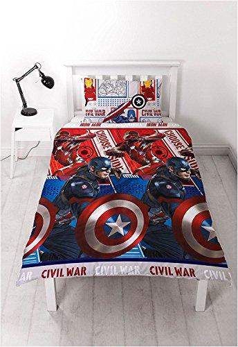 ca Bürgerkrieg Print Kinder wendbar Rotary Bettwäsche-Set Captain America Civil War Print (Bürgerkrieg Mädchen)