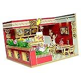 Baoblaze 1/24 Obstsaft Kaufladen DIY Miniatur Puppenhaus mit Zubehör Set für Kinder