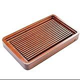 Tee-Tablett Massivholz-Tee-Tablett Chinesisches Kung Fu-Tee-Tablett Japanisches Quadratisches Tee-Tablett Zen-Desktop-Teetisch Stilvolles Einfaches Haushalts-Tee-Set Langlebig (Size : 40x25x4.5cm)