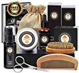 kit de barbe homme complet coffret barbe avec shampoing barbe, huile barbe,barbe peigne,brosse a...