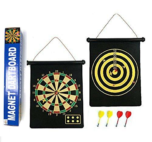 Umkehrbare magnetische Dartscheibe - Geschenk Boxed, einfach zu rollen und Shop mit Darts … (12