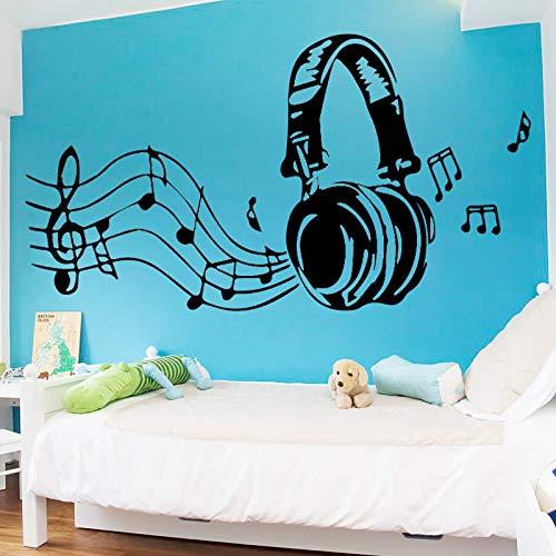 k Kopfhörer Vinyl Wandaufkleber Für Kinderzimmer Dekoration Schlafzimmer Dekor Tapete Wandbild Wallstickers Tapete weiß 160x86 cm ()