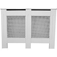 PanaCasa - (1115mm x 820mm x 190mm Cubierta de Radiador Calefactor Madera MDF Color Blanco