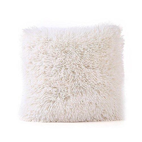 Cuscino caso,kword divano vita a gettare cuscino copertina home decor peluche federe cuscini di cachemire copertura throw cuscino caso 43x43cm (bianco)