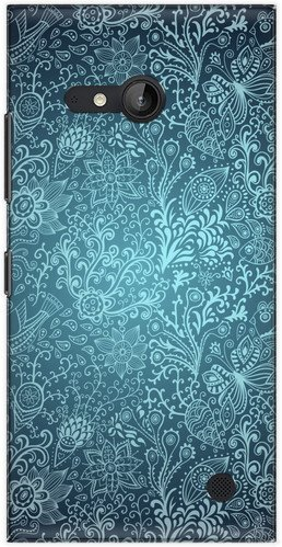 The Racoon Lean printed designer hard back mobile phone case cover for Nokia Lumia 730. (Snowflake)  available at amazon for Rs.99