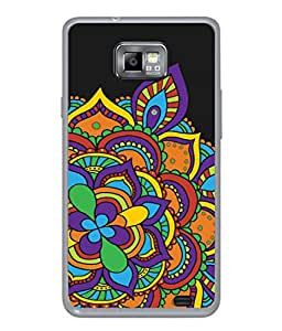 Samsung Galaxy S2 I9100, Samsung I9100 Galaxy S Ii Back Cover Multicolour Rangoli Design From FUSON
