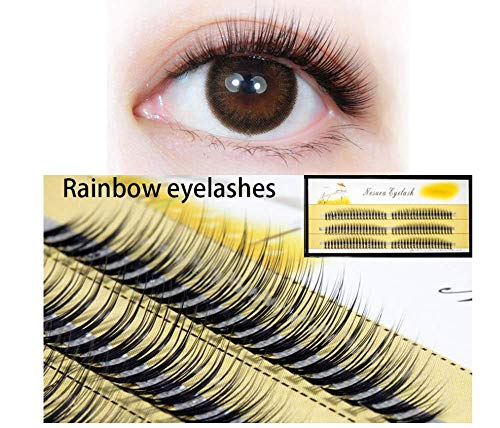 ZZDJ Pestañas postizas Maquillaje Pestañas de Seda de Pelo de visón Natural 0.1 Grosor 7-11 mm Extensión...