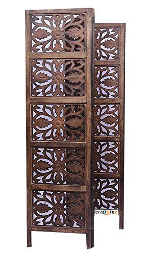 Crafts A to Z Antique look Woods Handcrafted Wooden Partition Handmade