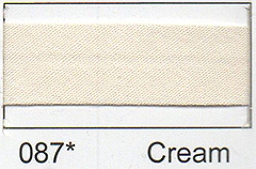 Polycotton Schrägband 12 mm - (2,5 M) cremefarben