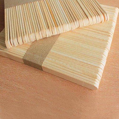 comprare on line 300 pcs bastoncini in legno naturale, 11,4 cm, per lecca lecca, gelati, oggetti fai da te, dessert prezzo