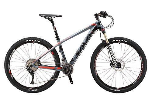 Sava DECK 700 27.5'/29' Mountain Bike Fibra Di Carbonio MTB Shimano 8000 DEORE XT 22-Velocità Bike Disco Di Coda Manituo Forcella Ammortizzata Mountain Bike (29'*19', Nero & Giallo)