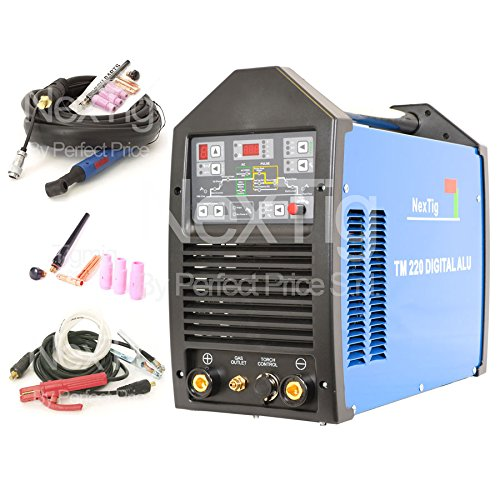 Schweißgerät Inverter WIG ACDC 200A Digital Haarentfernungsgerät NX 220Digital ALU 10Prog.
