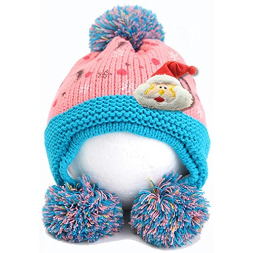 Babybekleidung Hüte & Mützen Longra Baby Mädchen Junge Form Winter warme Hüte Mütze(42 - 50cm,0-2years) (Blue Santa Anzug)