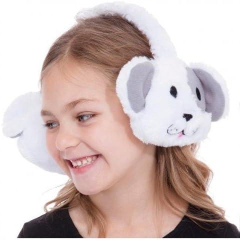 Orejeras con deseño animal para niñas (gato, oso o león)