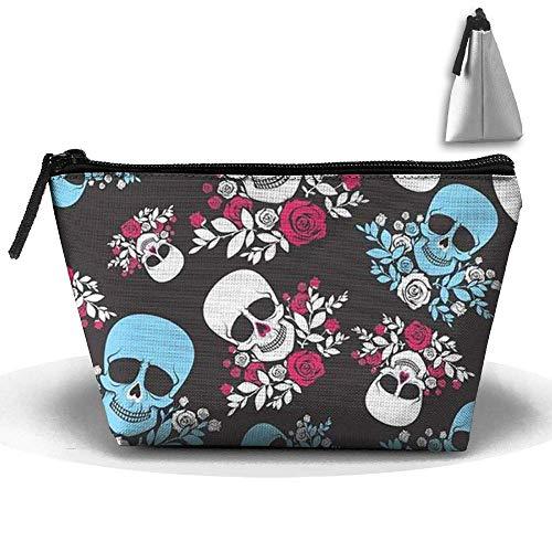 schen Pinsel Beutel Halloween Schädel Kopf Make-up Tasche Zipper Wallet Hangbag ()