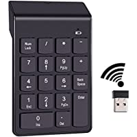 2,4G USB Teclado número, 18Llaves USB inalámbrico Teclado numérico, Recibir Mini USB para portátil PC de sobremesa portátil