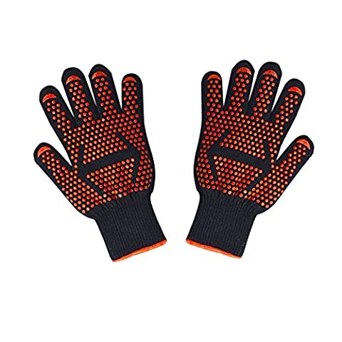 BBQ Grilling Cooking Gloves ,SUNNIOR 932°F Extreme Heat Resistant Gloves-Fire-retardant