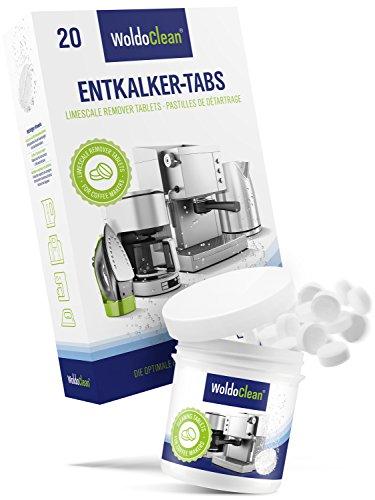 WoldoClean 20x Entkalker-Tabletten und 40x Reinigungstabletten für Kaffeevollautomaten