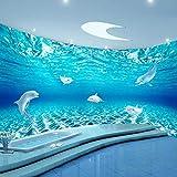 3D carta da parati Rivestimento a parete per sottofondo di acquario per acquari stereo conbagno personalizzato, 250x175cm