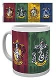 empireposter - Harry Potter - All Crests - Größe (cm), ca. Ø8,5 H9,5 - Lizenz Tassen, NEU - Beschreibung: - Keramik Tasse, weiß, bedruckt, Fassungsvermögen 320 ml, offiziell lizenziert, spülmaschinen- und mikrowellenfest -