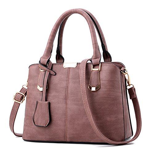 Meoaeo Die Neue Modische Taschen Business Casual Bag Crossbody-Tasche Vintage rubber powder