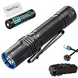 Olight M2R Taktische Taschenlampe 1500 Lumen / 208 Meter CREE XHP35 HD LED Kalt Weiß USB Magnetische Wiederaufladbare Krieger Taschenlampe, mit 18650 Aufladbarer Batterie/ Akku
