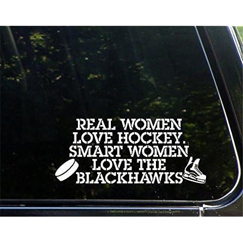 Real mujer Love Hockey. Smart Mujer Love the Blackhawks–8–3/4