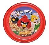 Unbekannt Großer Teller - Kinderteller  Angry Birds  - ø 23 cm - aus Kunststoff / Plastikteller Plastik - Geschirr für Kinder - Jungen & Mädchen - Red Vögel Vogel - Computer Spiel - Speiseteller
