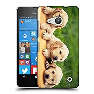 Snoogg Lab Babies Designer Protective Back Case Cover For LUMIA 550