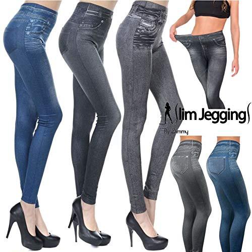 866c0fff6a Velform Women's Slim Jeggings Leggings, Multicolour (Azul/Negro/Gris ANG),