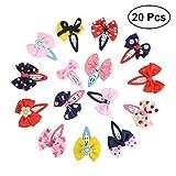 TOYMYTOY 20 STÜCKE Baby Haarklammern Haarschleife Haarclips Set mit Schleife für Kleinkinder Mädchen
