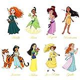 decalmile Stickers Muraux Princesse Autocollant Mural Décoration Murale Chambre de Fille Bébé Enfants Pépinière
