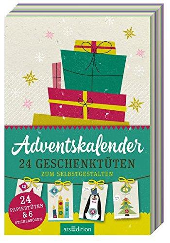 Preisvergleich Produktbild Adventskalender: 24 Geschenktüten zum Selbstgestalten: 24 Papiertüten & 6 Stickerbögen