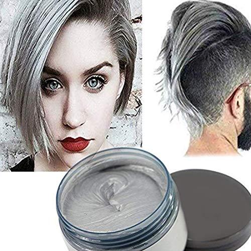 Hair Colour Cera, acconciatura opaca naturale per la festa.Cosplay, Halloween (grigio)